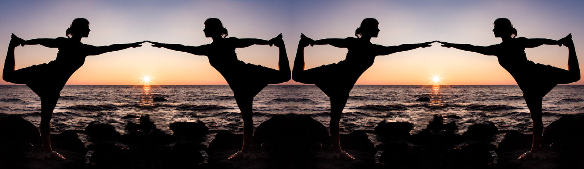 yoga sunset quadruple